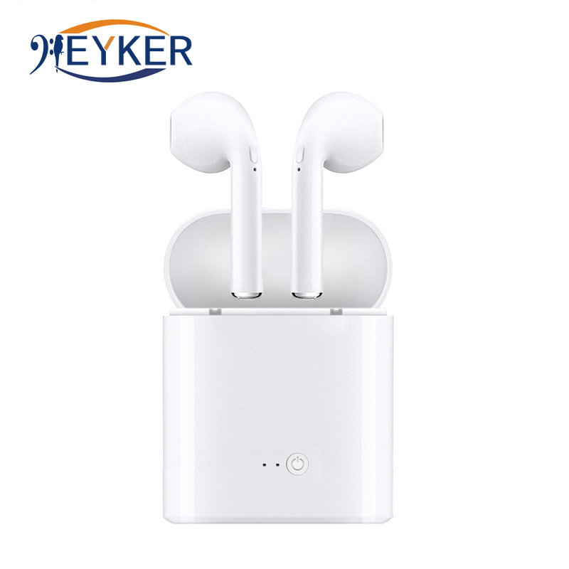 Bluetooth Wireless Earphone Headset With Charger Box i7s TWS Mini for iPhone Blutooth Earbuds Stereo Earpiece fone de ouvido цена 2017
