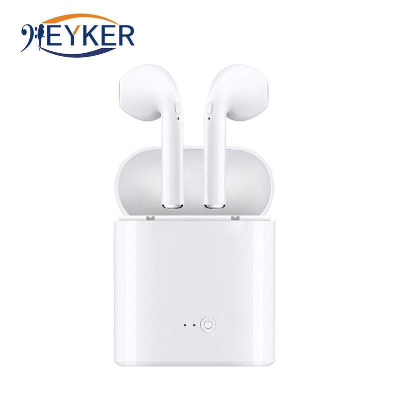 Bluetooth Wireless Headset auricular con cargador caja i7s TWS Mini para iPhone Bluetooth auriculares estéreo auricular fone de ouvido