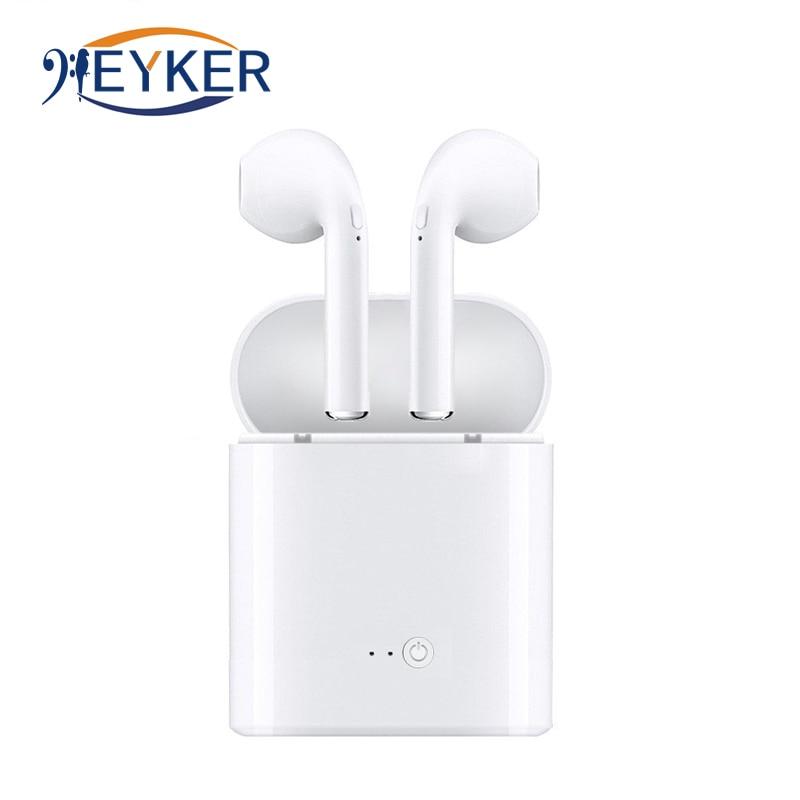 Senza Fili di Bluetooth del Trasduttore Auricolare Auricolare Con La Scatola del Caricatore i7s TWS Mini per il iphone Blutooth Auricolari Stereo Auricolare fone de ouvido