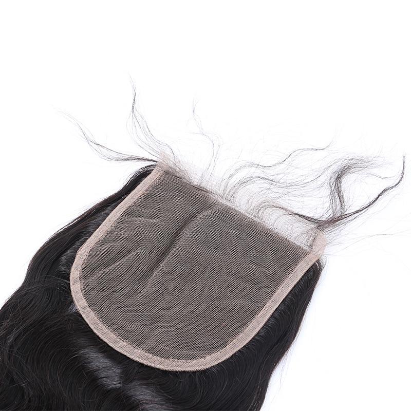 5x5 Закриття шнурка Бразильський - Людське волосся (чорне) - фото 5