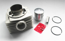 Motorcycle Cylinder Kit for MBK 47 mbk47 Booster Big Bore 47mm Cylinder kit with Piston 13mm PIN 2 ring Piston kit athena 072900 47mm diameter aluminum 70cc sport cylinder kit