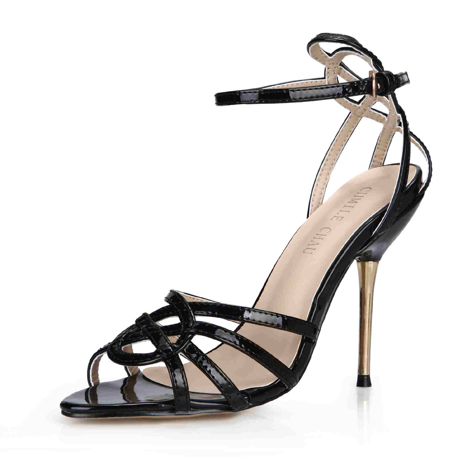 CHMILE CHAU Black Sexy Party Shoes Women Open Toe Stiletto High Heels Career Work Office Ladies Sandals Zapatos Mujer  3845C-5bCHMILE CHAU Black Sexy Party Shoes Women Open Toe Stiletto High Heels Career Work Office Ladies Sandals Zapatos Mujer  3845C-5b