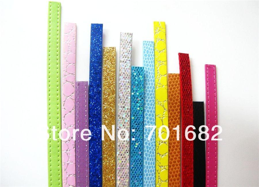1 м длина 8 мм любой смешанный стиль 50 полосок pu кожаный ремень подходящие амулеты