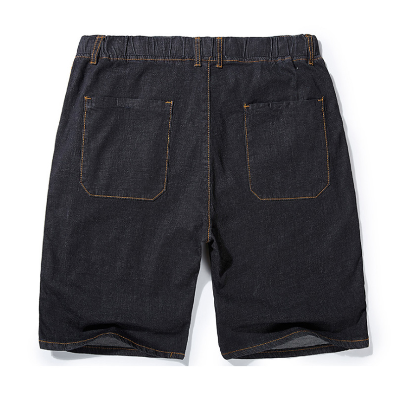 Summer's New Stretch Denim Shorts Men's Short Jeans 100% Cotton Men's Denim Pants Men Shorts Casual Clothes Plus Size 44 46 48