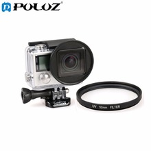 For Go Pro Accessories 52mm Round Circle UV Lens Filter for GoPro HERO4 HERO3+ HERO 4 / 3+