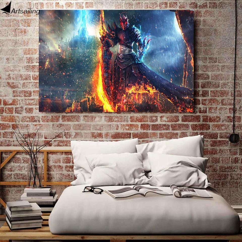 1 կտոր կտավ Art Canvas Painting Warrior Sword Demon Hunter HD - Տնային դեկոր - Լուսանկար 1