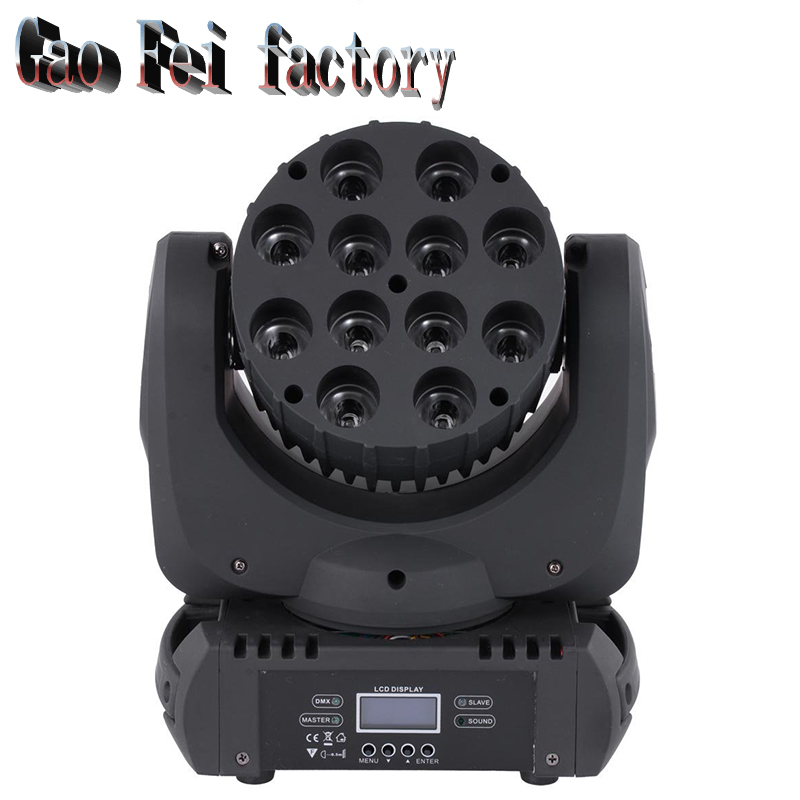 Led Moving Head Wash 12x12w Mini Moving Beam Light Stage Christmas Party Laser Show Disco Dj Dmx Lighting Rgbw Light
