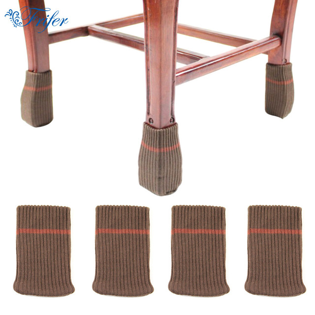 16pcs Set Double Layers Chair Leg Covers Thickened Knitting Wool Floor Protectors Furniture Cap