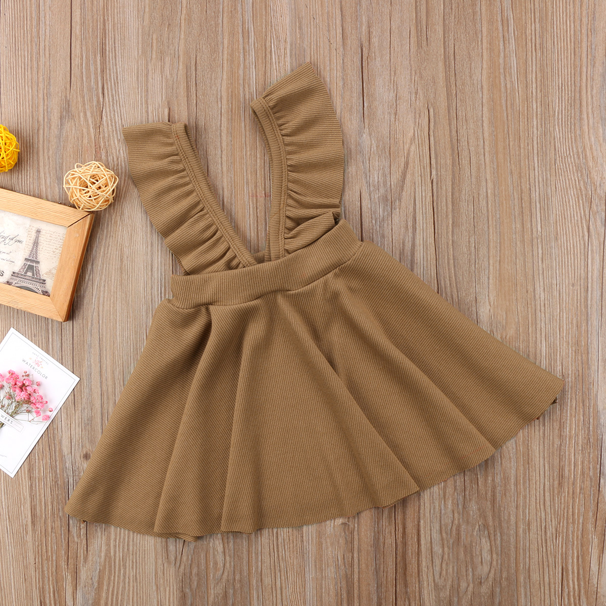 Overalls Newborn Baby Girls Knitting Wool Flower Strap Swing Dress Jumper  Dress Clothes Size 1 5T-in Dresses from Mother   Kids on Aliexpress.com  c9a3c188b16c