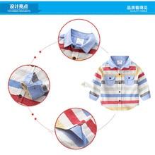 Kids Baby Boy Shirts Long Sleeve 2-12Y