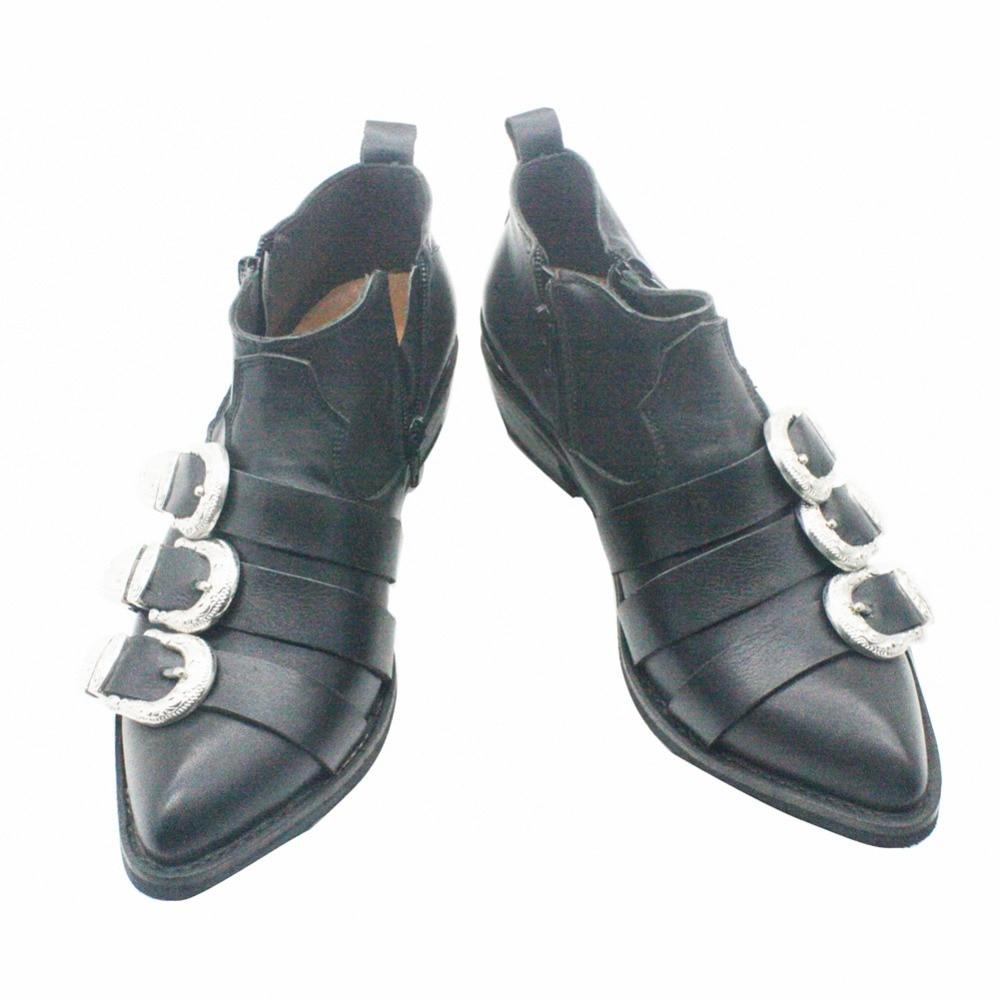 ┐Ultimate DealLeather Shoes Boots MJ Classic BAD Version Cosplay Michael Jackson West Cowboy ShoesÉ
