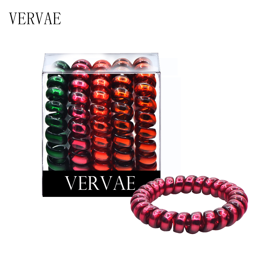 5 Pcs/set Elastic Hair Bands For Women Hair Accessories Girl's Phone Cord Spiral Hair Ties Headwear Ponytail Holders 2019 VERVAE