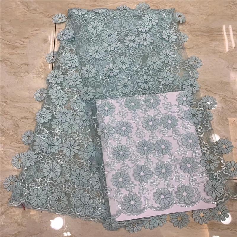 VILLIEA Afrikaanse Kant Stof 2018 Hoge Kwaliteit Fashion Mint Green Mesh Geborduurde Sequin Stof Voor Nigeriaanse Trouwjurk-in Kant van Huis & Tuin op  Groep 1