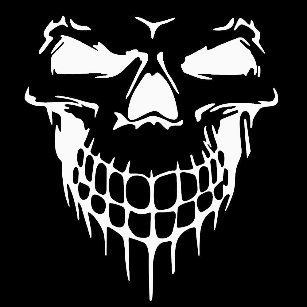 Styling skull car sticker reflective car window hood type for audi a4 b6 a6 c6 r8 for bmw e36 e46 in car stickers from automobiles motorcycles on