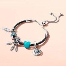 dd0c6407a52f Compra pandora bracelet leather and sterling silver y disfruta del ...