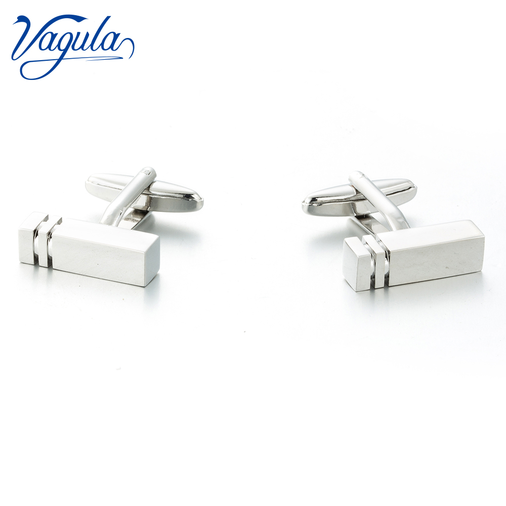 VAGULA New Cufflinks Top Luxury Brand Suit Shirt Bonito Gemelos Designer Rectangle Button Cuff Links 373