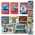 Wall Stickers 20*30CM Poster Home Decor My Classic Garage My Rules Wall Decalsmetal Tin Signs Plate Painting New Home Decoration