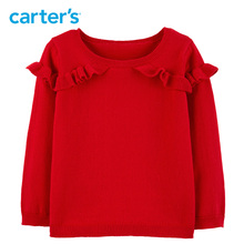 Can Carters Ruffle Pullover Sweater Autumn winter casual long sleeve