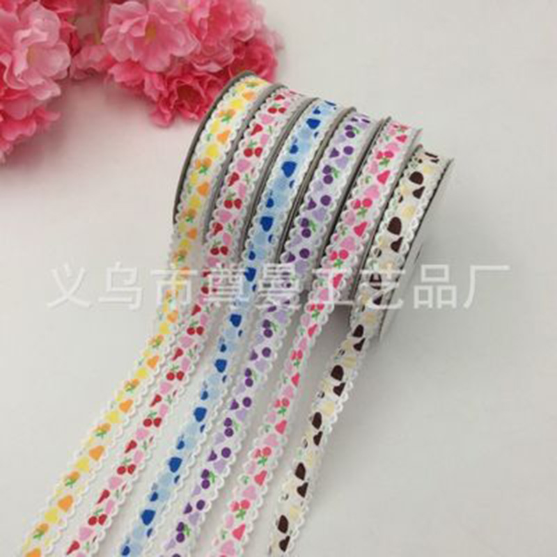 Ribbon Cherry Nail Lace 2.0cm*20 Yards Ultrasonic Embossed Headband Clothing Accessories Decorative Material Belt