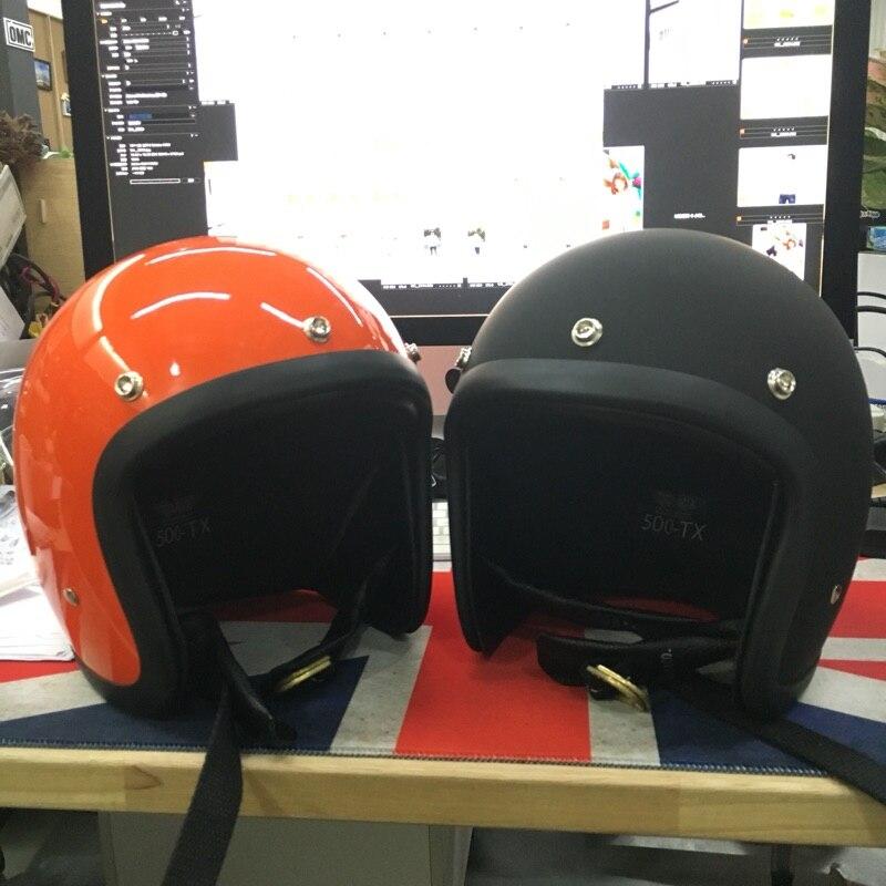 Casque de moto Marque Japon TT & CO Thompson Fiber De Verre Vintage casque de moto Harley moto casque sans Visière lentille