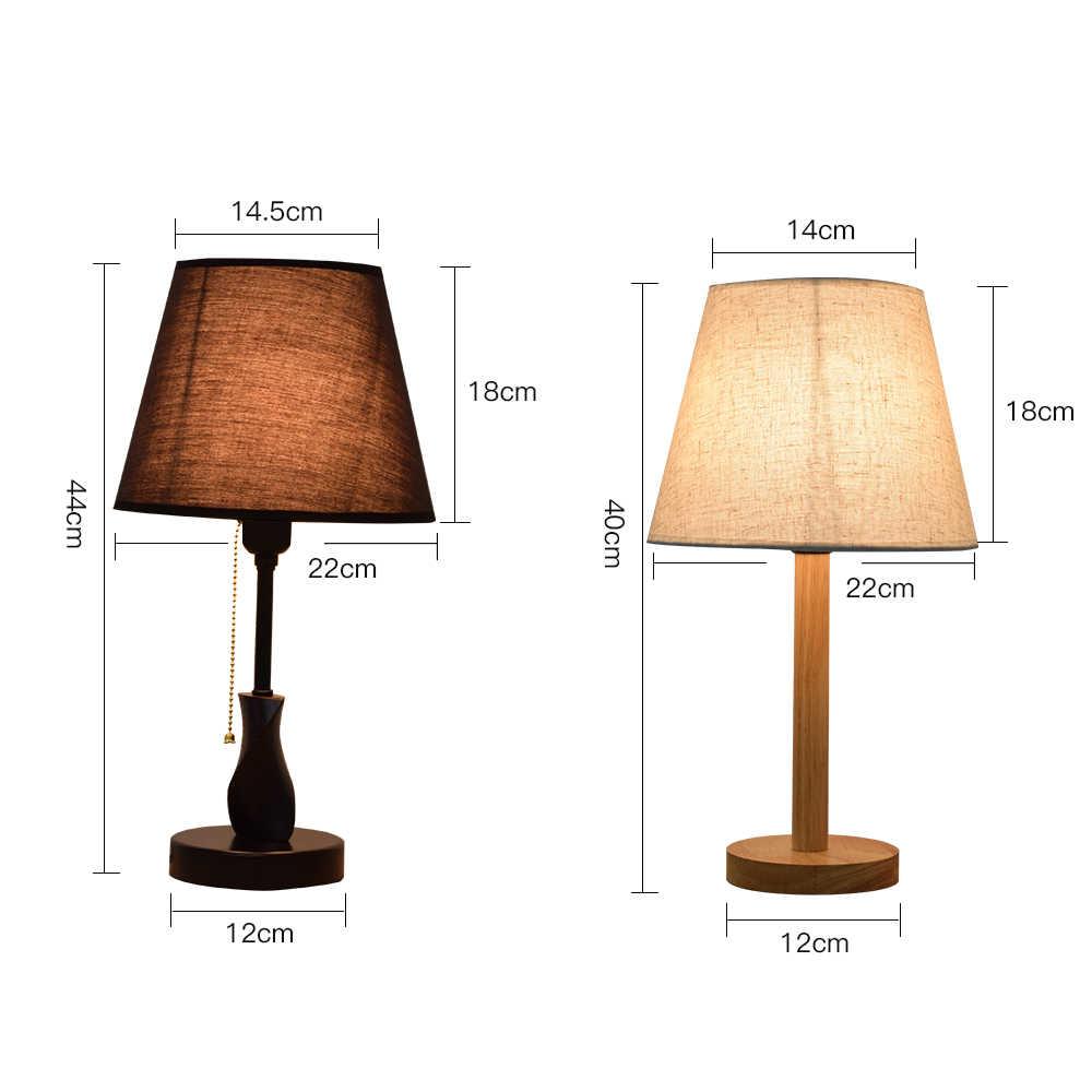 Luckyled современная настольная лампа деревянный стол света E27/E26 держатель спальня ночник Гостиная свет украшения с диммер