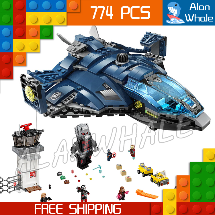 774pcs Super Heroes Captain America Civil War Airport Battle Iron Man DIY Model Building Blocks Toy Bricks Compatible With lego captain america civil war iron man 618 q version 10cm nendoroid pvc action figures model collectible toys