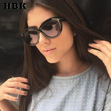 4e991d2a67 HBK De ojo De gato gafas De Sol Modis Oculos De Sol Feminino 2019 De lujo  De las mujeres De la marca diseñador gafas De Sol Retr.
