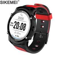 SIKEMEI GPS Smart Watch Sport Fitness Smartwatch Bracelet Transflective OGS Screen Cycling Waterproof IP68 Heart Rate