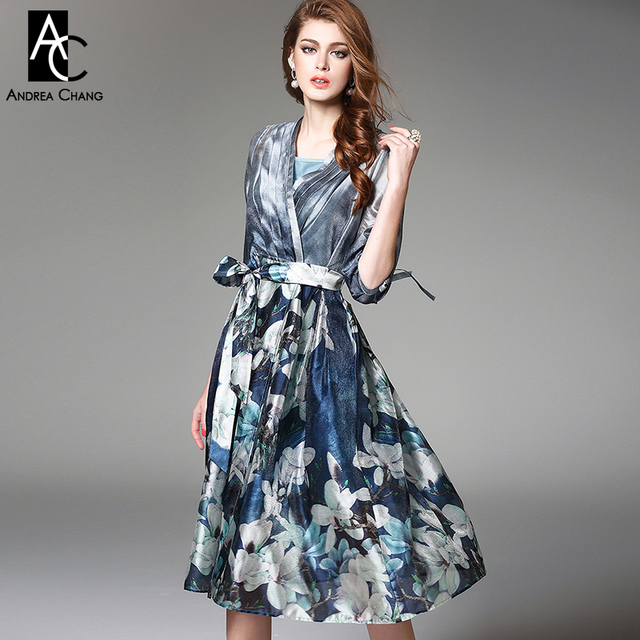 Designer kleid blau
