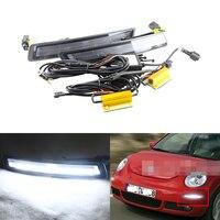 Горки ксеноновые Белый светодиод конкретных Габаритные огни для VW Beetle 2006 2010 Вт/янтарный указатели поворота Multi функция