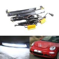 Switchback Xenon White Led Specific Daytime Running Lights For VW Beetle 2006 2010 W/ Amber Turn Signal Lights Multi Function