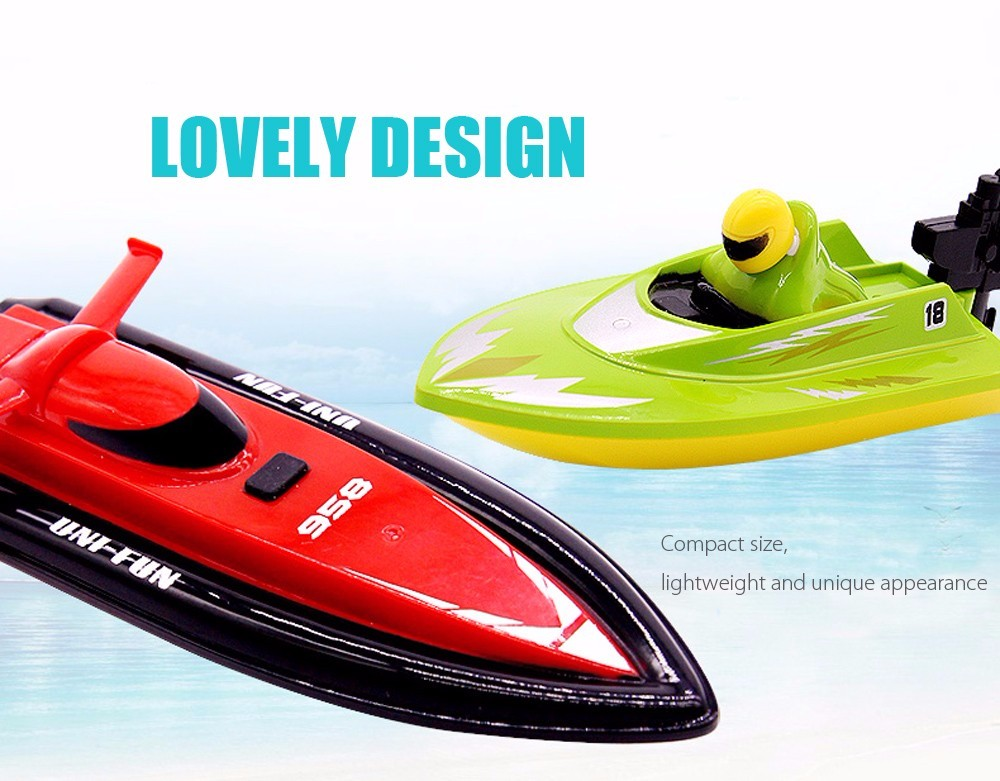 RC Boat Outdoor Children Toys Radio Control RC 2 Channels Waterproof Mini Electric Boats (2)