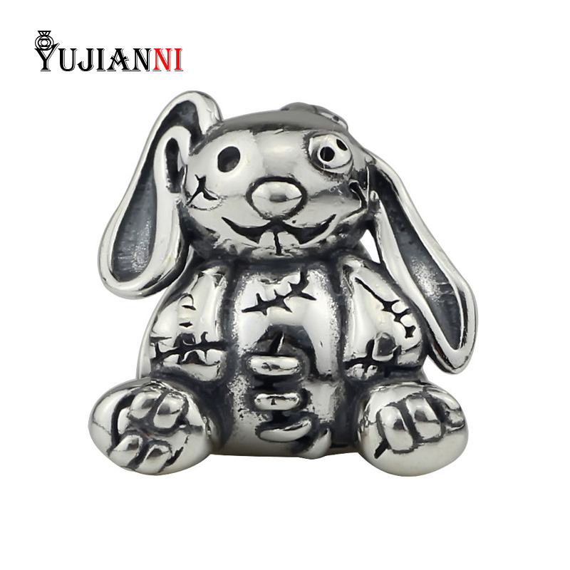 Mend Rabbit Charms 925 Sterling Silver Animal Beads DIY Jewelry Making For Woman Style Snake Chain Bracelets & NecklaceMend Rabbit Charms 925 Sterling Silver Animal Beads DIY Jewelry Making For Woman Style Snake Chain Bracelets & Necklace