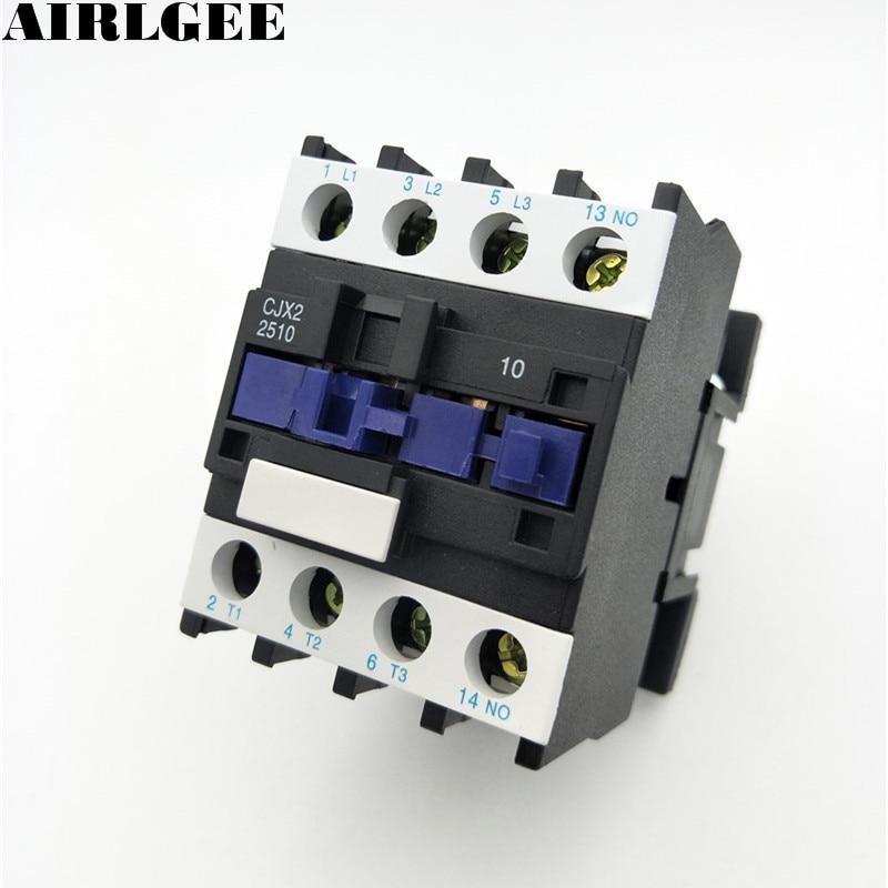цена на CJX2-2510 25A 3-Poles 3P+NO AC Contactor DIN Rail 220V 50Hz Coil