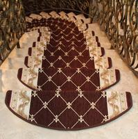 5 Pieces Stair Treads Carpet Sets Non Skid Stair Steps Mats Machine Washable 9 Style Available
