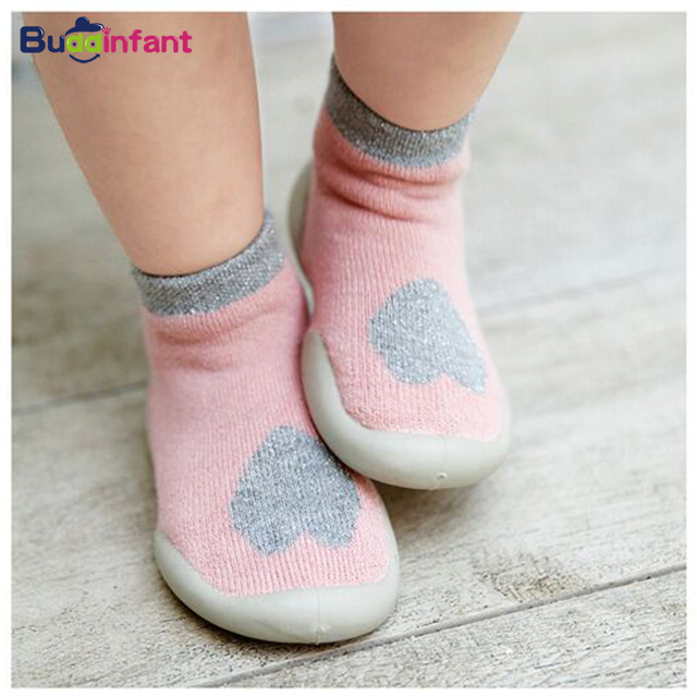 Kids Baby Boy Indoor Socks Anti Slip Warm Winter Shoes Sock with Rubber Soles Newborns Toddlers Walking Socks Terry Slippers