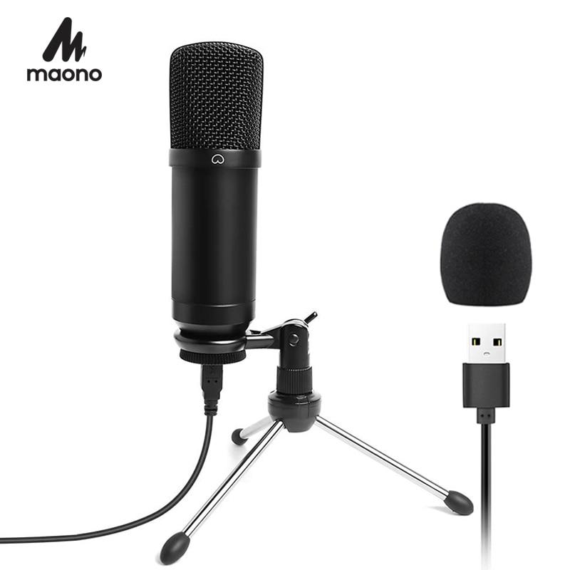 buy maono usb microphone podcast condenser microphone 192khz 24bit professional. Black Bedroom Furniture Sets. Home Design Ideas