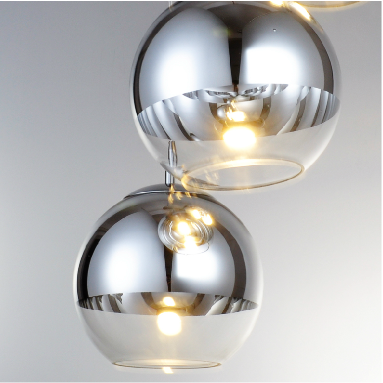 modern Electroplated ball glass ball pendant light lamp dining room living room lamp bar stair hanging lighting lamp free shipping ems 3 head modern brief white glass ball pendant light restaurant lamp living room lights stair pendant lamp
