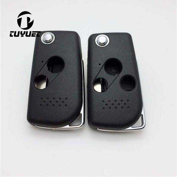 Upravené sklopné sklopení 2 3 tlačítka Vzdálené pouzdro na klíče pro Honda Accord Civic Car Key Blanks Case