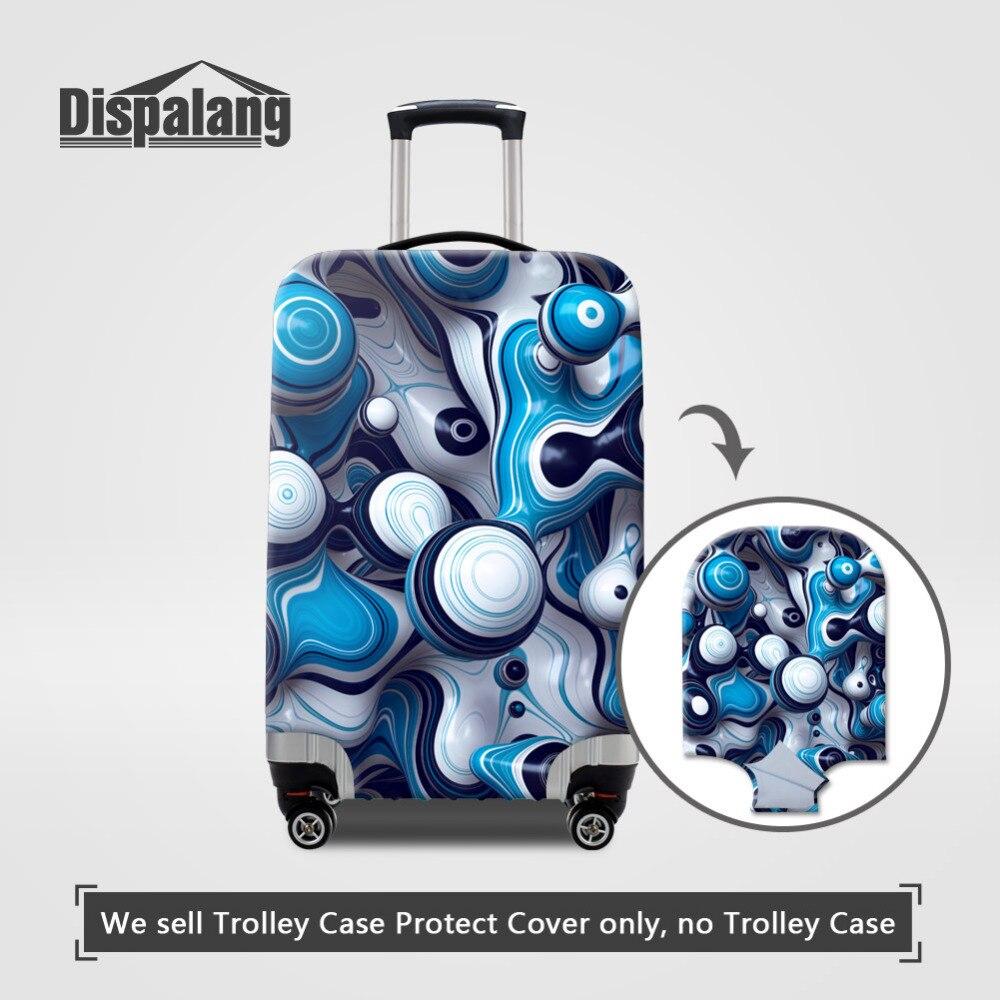 Dispalang Дизайн Водонепроницаемый Anti-Dust Чемодан крышки полосатый 3D принт Туристические товары для 18-30 дюймов чемодан крышка багажника чехол
