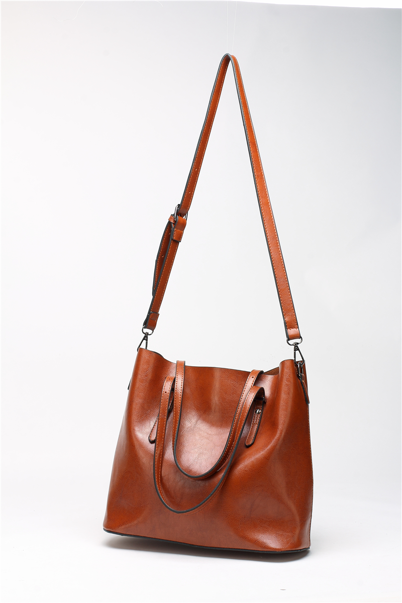 DIDA BEAR Brand Women Leather Handbags Lady Large Tote Bag Female Pu Shoulder Bags Bolsas Femininas Sac A Main Brown Black Red 14