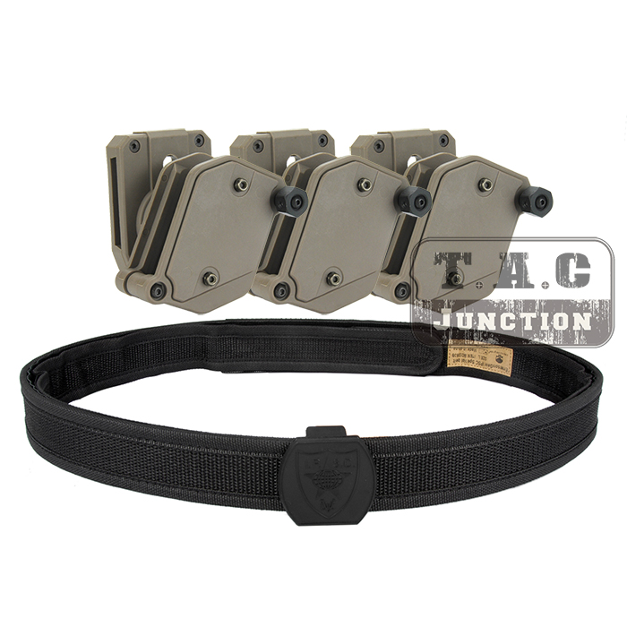 IPSC USPSA IDPA Concurrence Prise de vue Haute Vitesse Intérieure et Extérieure ceinture w/3 x Multi-Angle Vitesse Pistolet Magazine Pouch Mag étui
