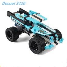 Decool 3420 Technique Stunt Camion Building Block Set Garcons Pull-back Modele De Voiture Jouets Compatible avec 42059
