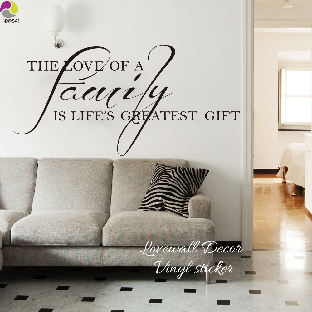 The love of a family is lifes greatest gift quote wall sticker the love of a family is lifes greatest gift quote wall sticker family love quote wall decal bedroom living room vinyl art decor in wall stickers from home amipublicfo Choice Image