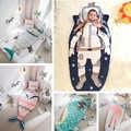 Bebê saco de dormir crianças tubarão astronauta sereia envelope para recém nascido inverno infantil grosso swaddle cobertor envoltório cama