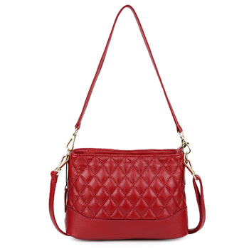 woman shoulder bag red solid 5 colors cow leather new lady fashion plaid messenger travel party business bags crossbody bag lady