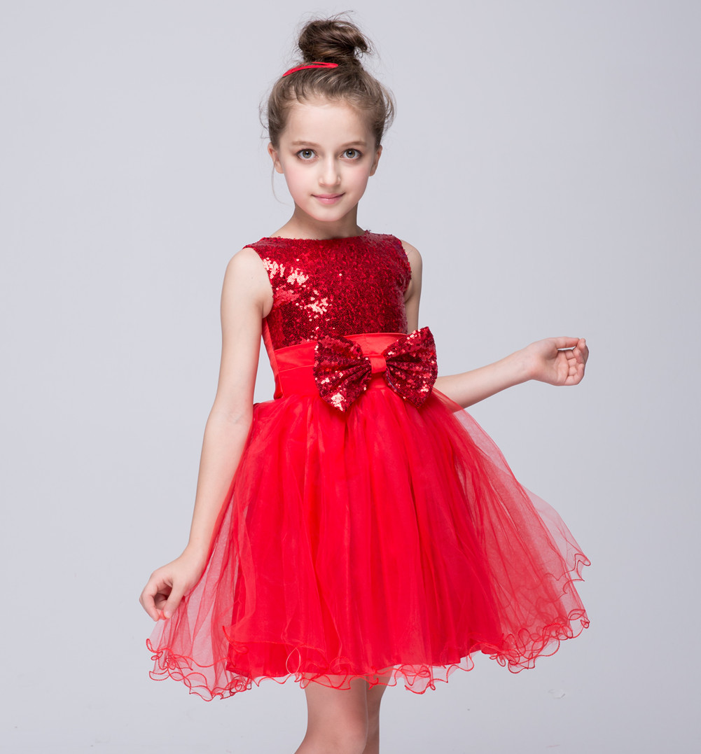 2017 Europe And America Style Children With Butterfly Sequins Puff Dress Princess Birthday Girls 2 3 4 5 6 Years Old In Dresses From Mother