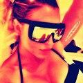 2017 Senhoras Óculos De Sol ADELE Marca Designer Ou Flat Top Óculos De Sol Das Mulheres de Grandes Dimensões Do Vintage UV400 Tons Rebite Fêmea Quadrado D