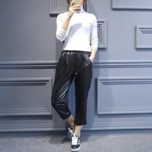 2019 New Fashion Women Genuine Sheep Leather Pants J6