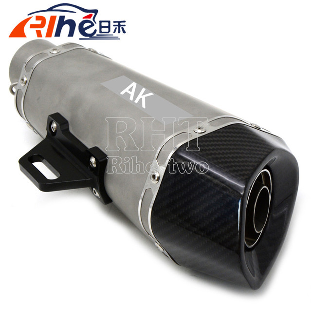 good qualityuniversal  motorbike muffler carbon fiber modified  exhaust  style for suzuki sv650/s dl650/v-strom 600/750 katana